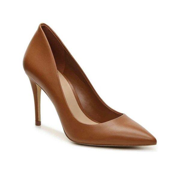 Stunning Parisian Camel Leather Aldo Heel Pumps 6